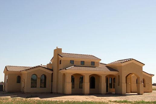 prefab home in a desert setting