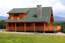 prefabricated log home