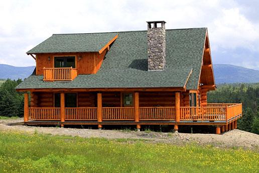 prefab log home
